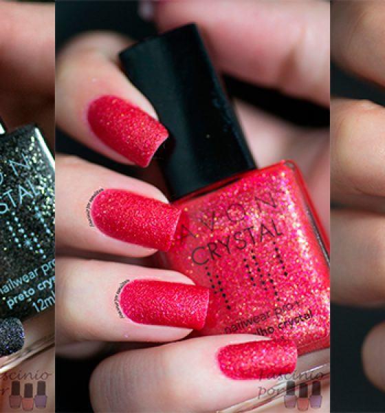 Avon – Coleção Crystal – Preto, Vermelho e Rosa