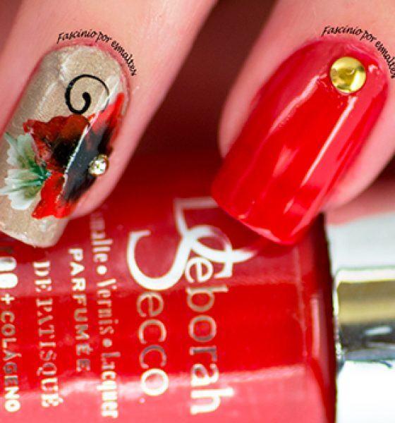 Sikoski Adesivos Artesanais e Impressos – Flor vermelha artesanal