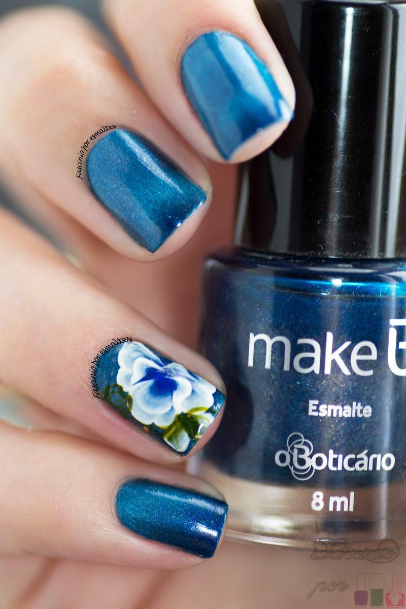 Sikoski Adesivos Artesanais - Flor Azul