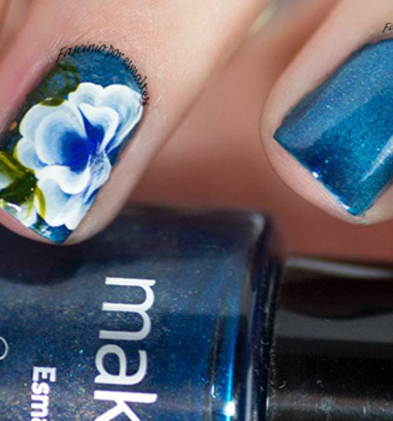 Sikoski Adesivos Artesanais – Flor Azul