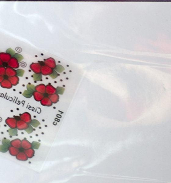 Cissi Película e Esmaltes – Flores Vermelha