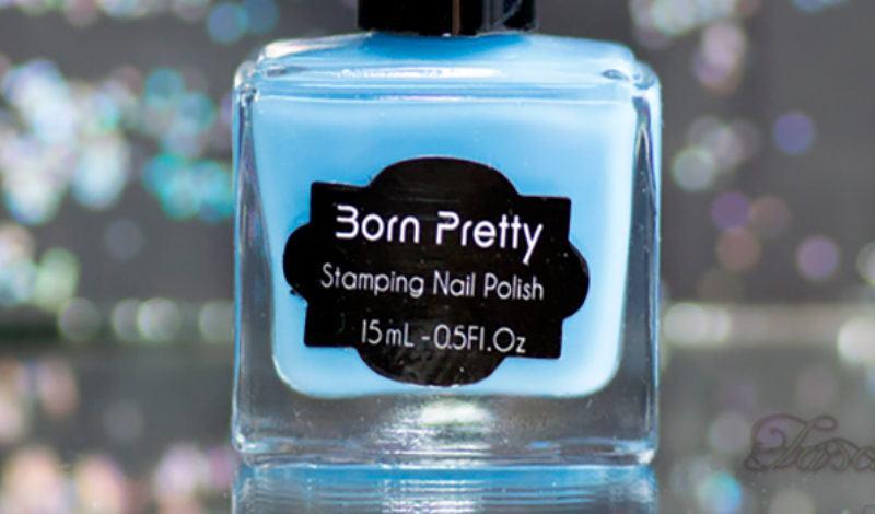 Born Pretty – Esmalte para carimbo – Azul Claro