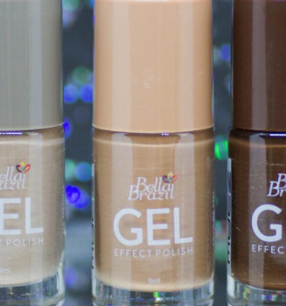 Bella Brazil – Gel Effect – Coleção Nude – Na medida, Favo de Mel e Acertei