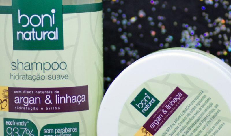 Boni Natural – Argan e Linhaça – Shampoo e Máscara
