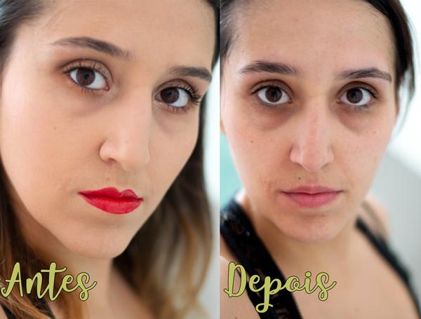 Antes e Depois - Sabonete Pink Color