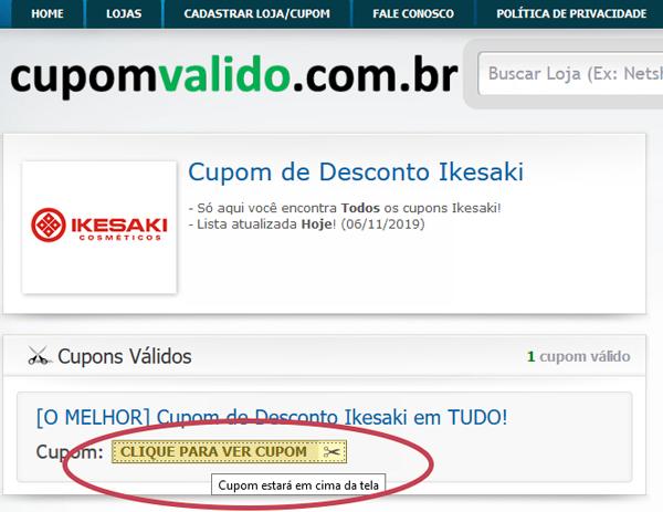 Site Cupom Valido - Desconto