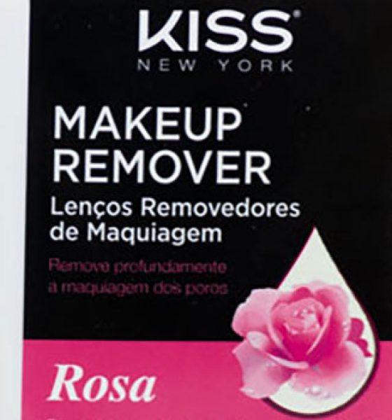 Kiss New York – Makeup Remover – Lenços Removedores de Maquiagem – Rosa